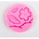 """Молд силиконовый 5,5х0,9 см """"Цветок, лист и веточка"""" 2581360"""
