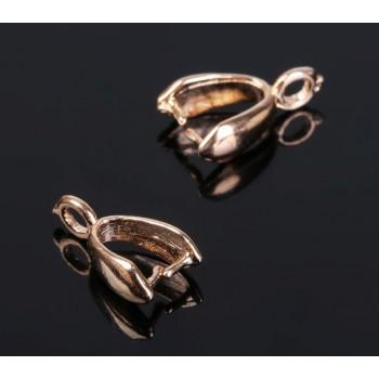 Держатель для кулона, цвет золото, 11*7 мм (набор 5шт) 1353612