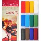 Пластика - полимерная глина набор LAPSI 12 классических цветов 240г (1075473)
