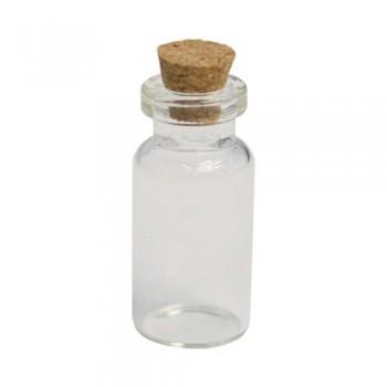 Стеклянные бутылочки с пробкой 1мл., 16мм*35мм., 5шт/упак.