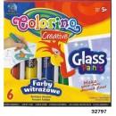 Краски для стекла 10.5 мл, 6 цветов    2 люмин. блистер CL68949PTR