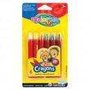 Мелки для грима Colorino с пластиковым держателем, 6 цветов (блистер) CL32629PTR