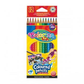 """Акварельные карандаши """"Aquarell Coloured Pensils"""", 12 цв. + кисточка CL33039PTR"""