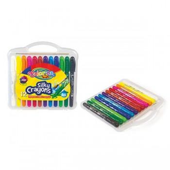 Акварельные восковые мелки Colorino 12 цветов в пластиковом кейсе CL57271PTR