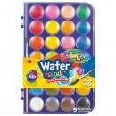 Акварельные краски + кисточка, 28 цветов в пластиковой упаковке (большие блоки) CL67317PTR