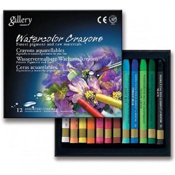 Акварельные водорастворимые мелки MUNGYO 12 цветов MGMAC12