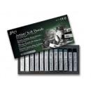 Пастель MUNGYO мягкая профессиональная12 цветов, Серый MGMPV12G