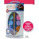 Краски акварельные 12 жемчужных цветов в таблетках диам 30 мм в подвесной пластиковой упаковке
