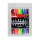 Набор двухсторонних фломастеров Patio, 10 цветов, толщина линии 1 мм и 4 мм PT34227PTR
