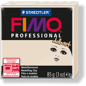 Пластика - полимерная глина FIMO Professional Doll art  85г полупрозрачный бежевый (8027-44)
