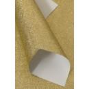 Кожа искусственная 20*30см 1 лист с глиттером SF-5834, золото