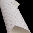 """Кожа искусственная 20*30см 1 лист текстурная """"Брызги"""" SF-5837, белый/серебро"""