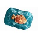 Форма для мыла рыбка на камне 007