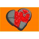 Форма для мыла Механическое сердце 388