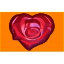Форма для мыла сердце роза 396