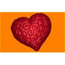 Форма для мыла сердце завиток 409
