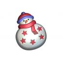 Форма для мыла Снеговик игрушка 663