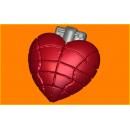 Форма для мыла сердце-граната 407