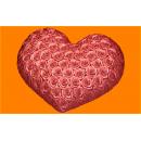 Форма для мыла Сердце в розах 541