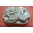 Форма для мыла Ангел с цветами 192