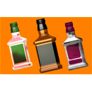 Форма для мыла Бутылка под картинку 511