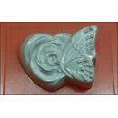 Форма для мыла  Бабочка на розе 234