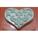 Форма для мыла Сердце узор 240