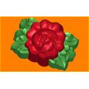 Форма для мыла Пион с листьями 404
