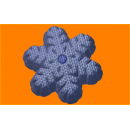 Форма для мыла Вязанная снежинка 517