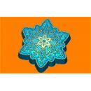 Форма для мыла  Снежинка ажур 532