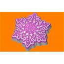 Форма для мыла Снежинка кристалл 533