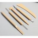 Инструменты для моделирования и придания формы набор 5 шт пластик 21,5х7,5х0,8 см 4571911