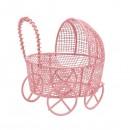 Металлическая колясочка, 7*7см 7726964 розовый