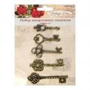 Набор декоративных элементов 'Ключи', 5шт. Vintage Line (7707910)