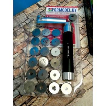 Экструдер металлический для полимерной глины FIMO PROFESSIONAL  улучшенный 20 насадок в комплекте 8700-17