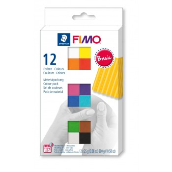 Набор полимерной глины  Fimo BASIC 12*25гр 8023 С12-1