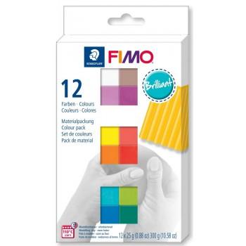 Набор полимерной глины  Fimo  BRILLIANT 12*25гр 8023 С12-2