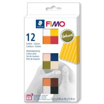 Набор полимерной глины  Fimo NATURAL 12*25гр 8023 С12-4