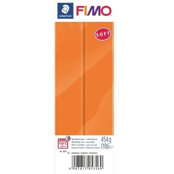Пластика - полимерная глина FIMO Soft 454г мандарин 8021-42
