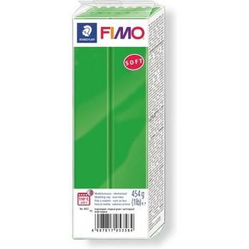Пластика - полимерная глина FIMO Soft 454г тропический зеленый 8021-53