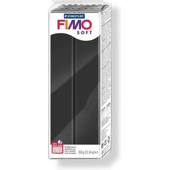 Пластика - полимерная глина FIMO Soft 350г чёрный (8022-9)