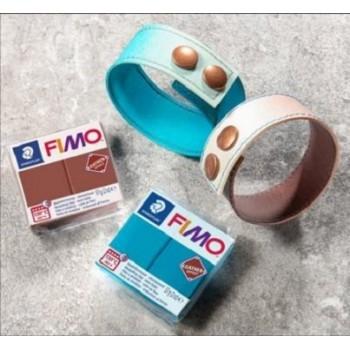 Пластика - полимерная глина FIMO Leather Effect малиновый  8010-029