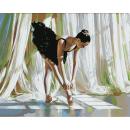 Картина по номерам на холсте Балерина 40*50