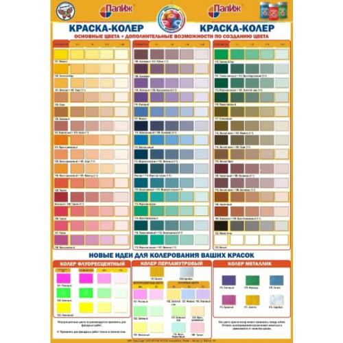 Таблица колеровки красок в домашних условиях