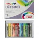 Пастель масляная 12 цветов Pentel 8/60мм, в картоне 1416816