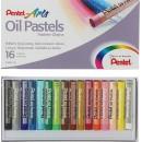 Пастель масляная 16 цветов Pentel 8/60мм, в картоне 1416817