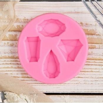 """Молд """"Драгоценные камни"""" 7,3*1 см (2818781)"""