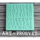 "Молд алфавит ""Печатная машинка"" латиница ARTMD0163"