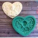 "Молд для шоколада ""Сердце ""Ангел с розами"" ARTMD0691"