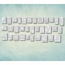 """Молд алфавит """"Типографские литеры"""" кириллический (XS) ARTMD0782"""